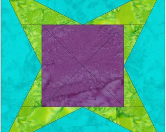 Y Star 10 Inch Paper Piece Foundation Quilting Block Pattern