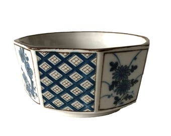 Vintage Japanese Indigo Ceramic Bowl