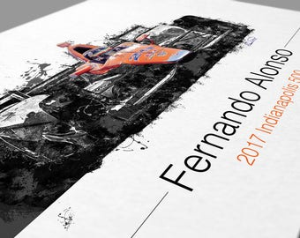 Fernando Alonso Indy 500 Artwork SPECIAL EDITION