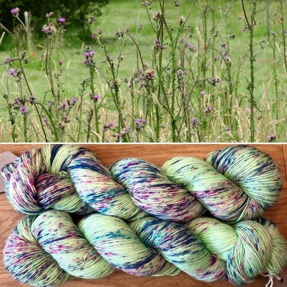 Thistles, speckled indie dyed merino nylon sock yarn