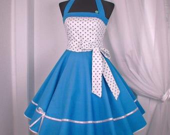 Petticoat dress, green dress, dots dress, bachelor dress, confirmation dress, youth dress, wedding dress,prom dress, party dress, dress