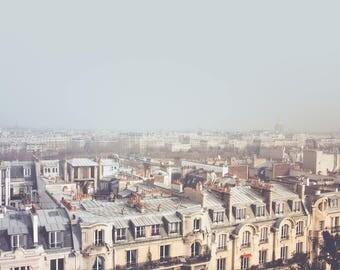 Paris Morning Rooftops Fine Art Print, Parisian Decor, Vintage Paris, French Decor, Europe