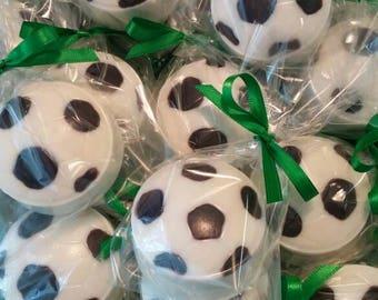 Soccer Ball Chocolate Covered Oreos