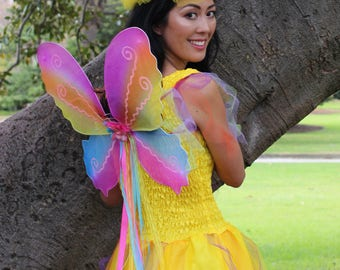 Adult  Fairy Wings ~ Halloween ~ Steampunk Costume ~ Fairy ~ Butterfly ~ Cosplay ~ Tinkerbell ~