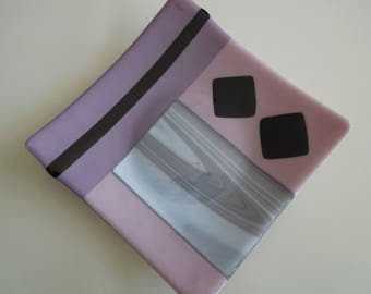 "It's mauve-u-lous - 9"" square plate"