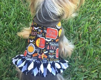 Halloween Dog Harness Customizable to your dogs measurements!  Available in other colors! Size  XXS XS Small