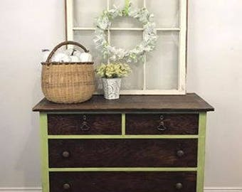 Farmhouse Dresser   Rustic Bedroom Furniture   Refurbished Dresser   Restored  Antique Furniture   Antique Chest
