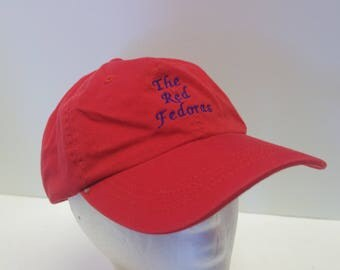 THE RED FEDORAS hat cap low profile