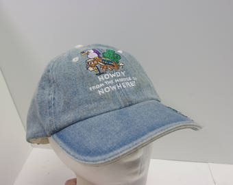 Howdy From the Middle of Nowhere denim hat cap jean