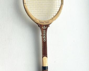 Vintage Adidas Wooden Nastase Master Tennis Racquet