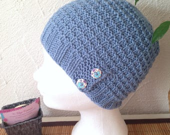 Structured Hat woman or teen denim blue color