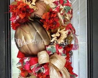 Door Swag, Fall Swag, Fall Wreath, Autumn Decoration, Wreath for Door, Front door Wreath, Floral Wreath