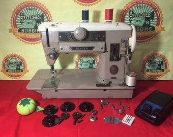 "Vintage Singer 401A Sewing Machine Excellent Condition ""Clean"""