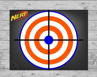 Exhilarating image throughout nerf target printable