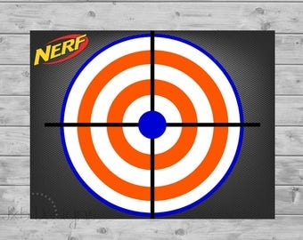Terrible image regarding printable nerf targets