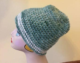 Crochet Hat, Wool Hat, Ladies Cap, Teens Beanie, Green Hat, Winter Hat, Outdoor Activities, Ski Hat, Ladies Warm Hat
