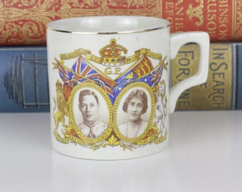 Queen Elizabeth Coronation 1937 mug