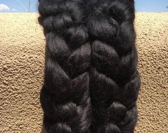 Alpaca/Silk Roving for Spinning or Felting