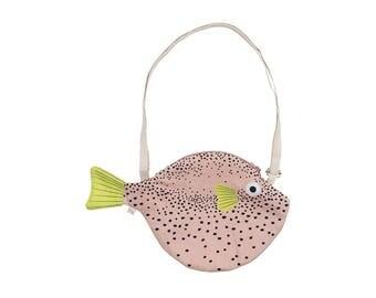 Small pink PUFFERFISH (small pink Balloon)-Fish bag