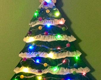 light up christmas tree wall hanging - Light Up Christmas Tree