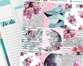 Moon Child Weekly Planner Kit for No-White Space and White Space Planners  - WK14
