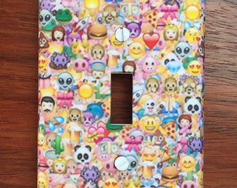 Emoji light switch teen gift home decor // SAME DAY SHIPPING**