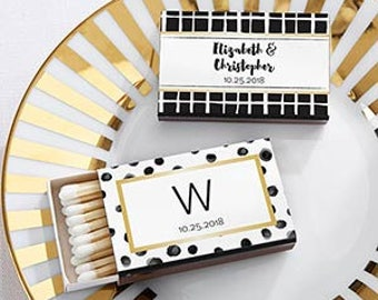 PERSONALIZED Modern Classic Matchboxes (50)