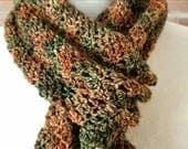 CUSTOM ORDER for TONI: Merino wool scarf in Arbol