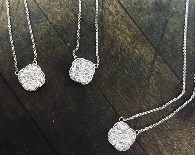 Diamond Lucky Four Leaf Clover in 14k Gold