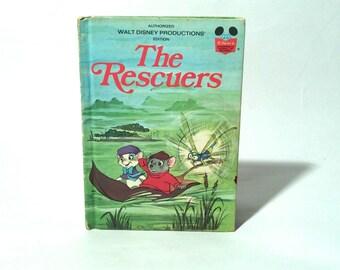 Vintage 1970s Disney The Rescuers Hardcover Children's Book