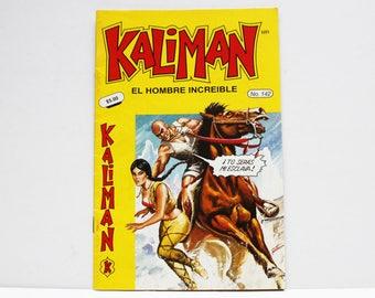 Kaliman El Hombre Increible No 142 El Dragon Rojo Revista en Español Comic Book in Spanish RARE