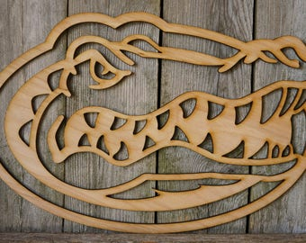 University of Florida Gators logo wall hanging sign/gift/cutout/laser/door/decor/unfinished/wood/laser