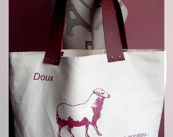 "Large Tote Bag ""Sweet, Like a Lamb"""