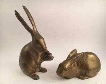 Vintage Brass Rabbit Brass Rabbit Rabbit Brass Bunny Brass Vintage Brass
