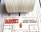 Barbours no.35 250g 3 Cord Waxed Linen Thread Vintage Book Binding Irish Linen Spool