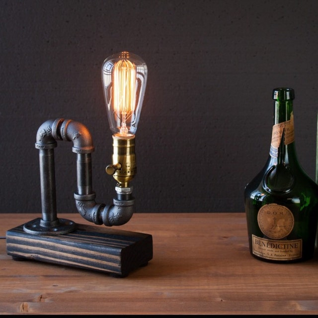 Industrial Lighting Lighting Rustic Light Steampunk: Industrial Steampunk Lamps Rustic Decor By