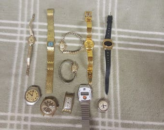 Vintage Estate Lot Watches. Men's. Women's. Instant Collection. Timex. Bulova