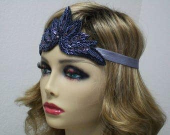 Flapper Headpiece, Gatsby Headband, 1920s Headpiece, 1920s Headband, 1920s hair accessory, Flapper dress, Roaring 20s