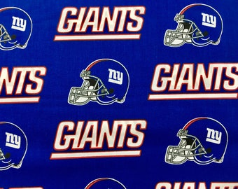 """New York Giants nfl 60"""" Cotton Fabric By The Yard All Over Patchwork Print Fabric Traditions"""