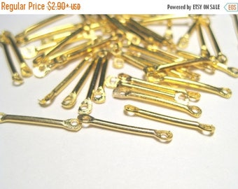 50% OFF Clearance Sale-- Gold Plated Bar Links Connectors 15mm