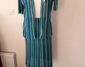 Vintage knitted Suit size 10 -12