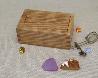 Oak Sliding Lid Box, Sliding Lid Box, Box with Sliding Top, Sliding Top Wooden Box, Oak Sliding Top Box, Oak Box, Keepsake Box,  (st51201F)