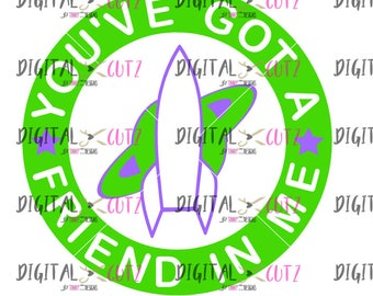 Space Ranger Toy Badge, SVG, Digital Images, Downloads