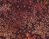 Abstract Leaves Batik Fabric; B5044-Wine; You Choose Size; Timeless Treasures; Tonga Forest Floor; Wing and a Prayer; Forest Floor BOTM