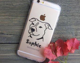 Custom Pet Portrait iPhone Case