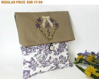 Summer Sale , Clutch bag, Personnalized  Clutch Bag, Monogrammed Cosmetic Bag, Bridesmaid Clutch, Make Up Bag, Wedding Clutch Bag, Evening