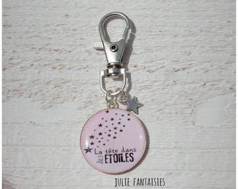 "Bag charm / bag Juju ""Head in the stars"""