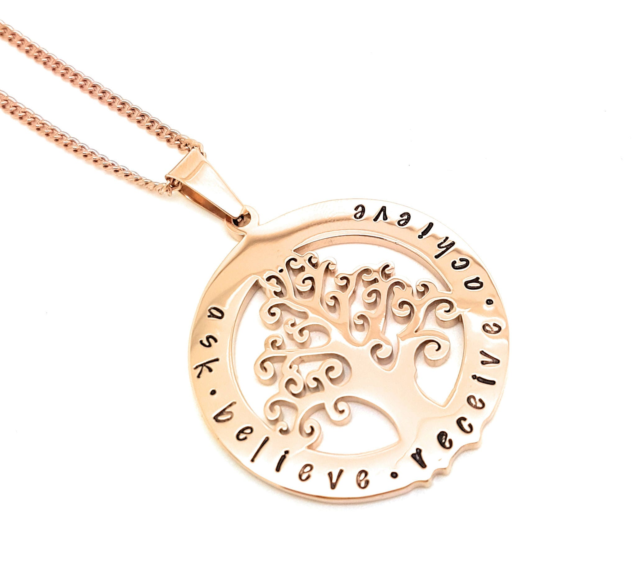 Personalised family tree necklace australia best necklace 2018 family names tree of life pendant personalised jewellery hand aloadofball Image collections