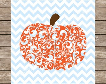 Swirly Pumpkin svg, Swirl Pumpkin svg, Pumpkin svg, Halloween svg, Ornamental Pumpkin, Fancy Pumpkin, Fall svg, Autumn svg, svg files cricut