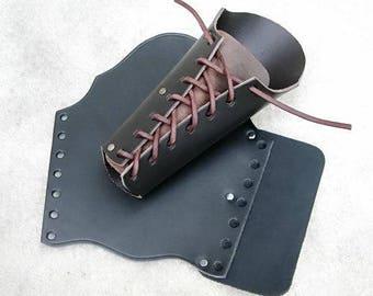 Show fighting leather armguard - [03 Schü-F]